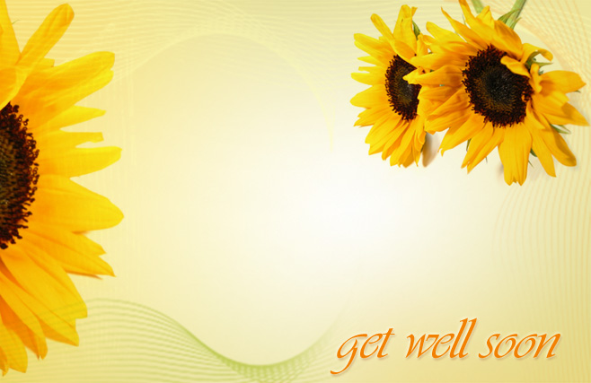 Get well soon - Yellow Flowers